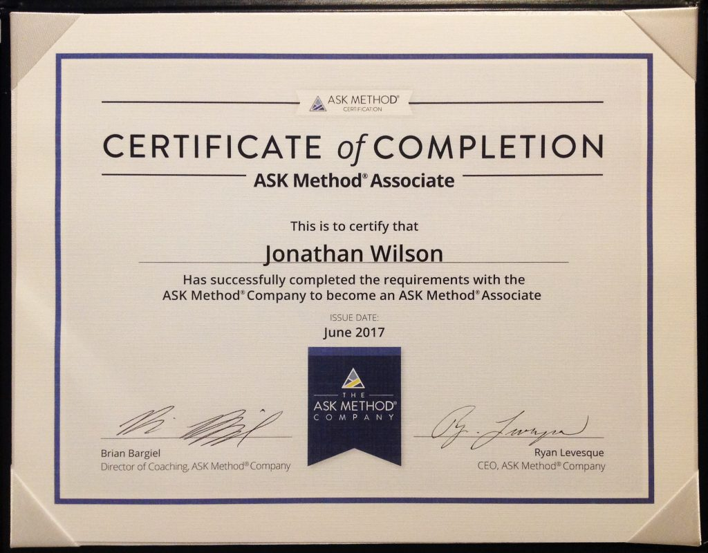Certified ASK Method Associate