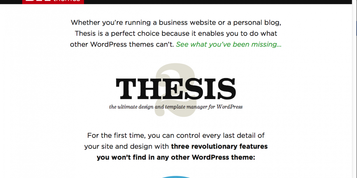 Thesis custom blog page